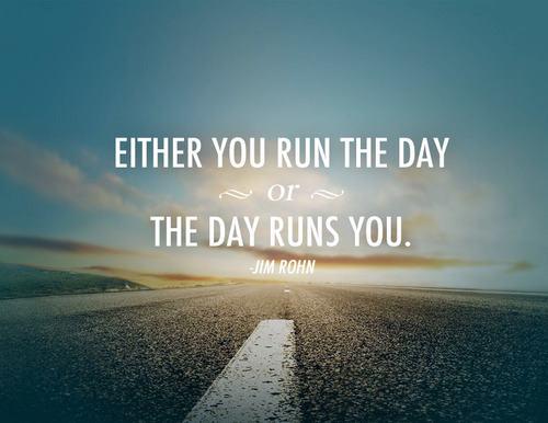 Albo Ty prowadzisz swój dzień, alboon prowadzi Ciebie.